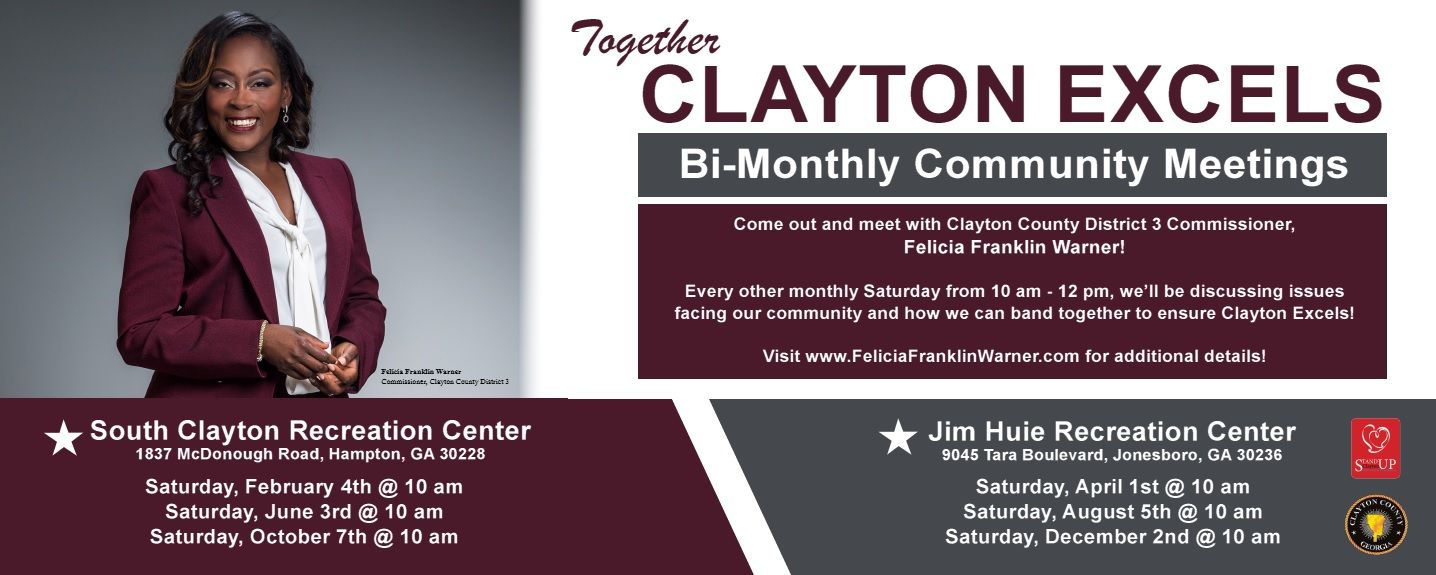Clayton Excels Town Halls