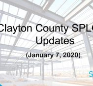 Clayton County SPLOST Updates January 7, 2020