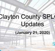 Clayton County SPLOST Updates January 21, 2020