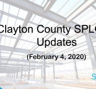 Clayton County SPLOST Updates February 4, 2020