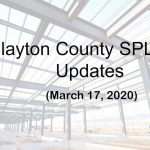 Clayton County SPLOST Updates March 17, 2020