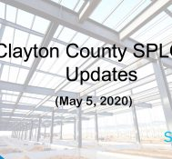 Clayton County SPLOST Updates May 5, 2020