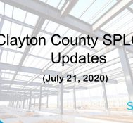 Clayton County SPLOST Updates July 21, 2020