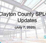 Clayton County SPLOST Updates July 7, 2020