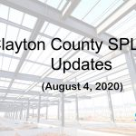 Clayton County SPLOST Updates August 4th, 2020