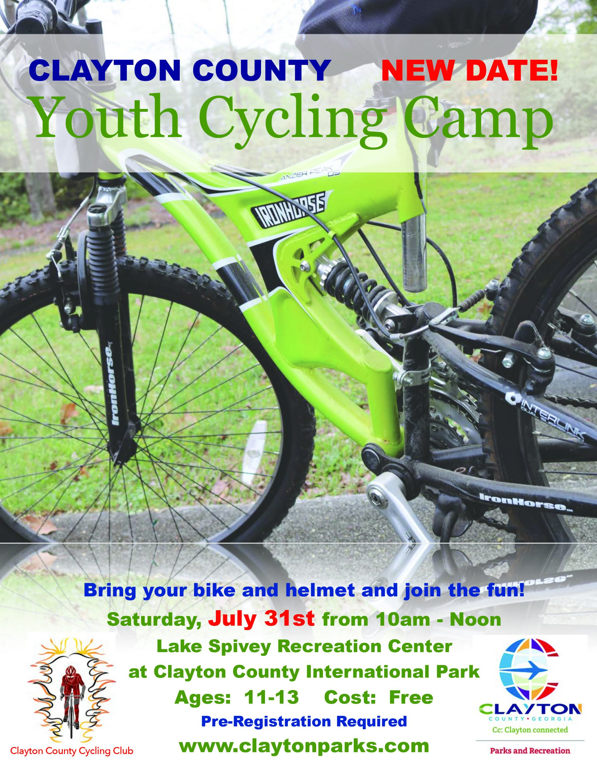 Cycling Camp Flyer July
